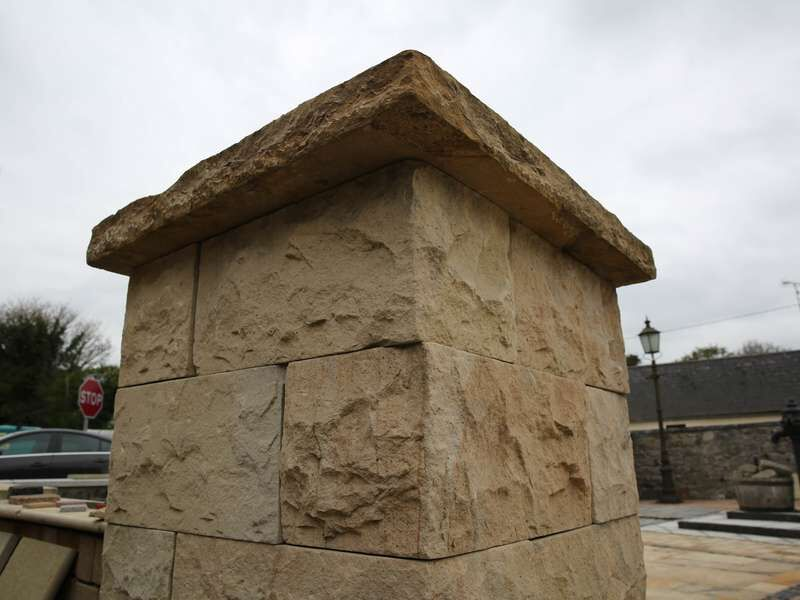 Natural Stone Wall Caps : Sandstone wall caps pier