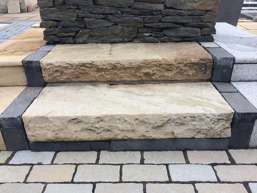 Granite Stone Sandstone : Sandstone kerbs and steps natural stone ireland