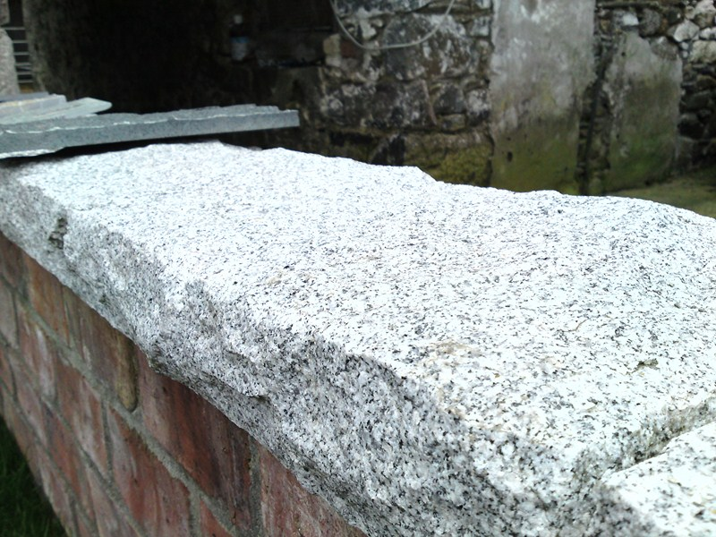 Natural Stone Wall Caps : Granite wall caps and pier