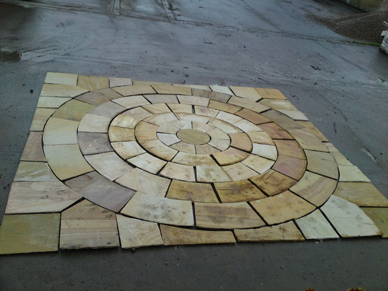 5 m square mint fossil sandstone circle