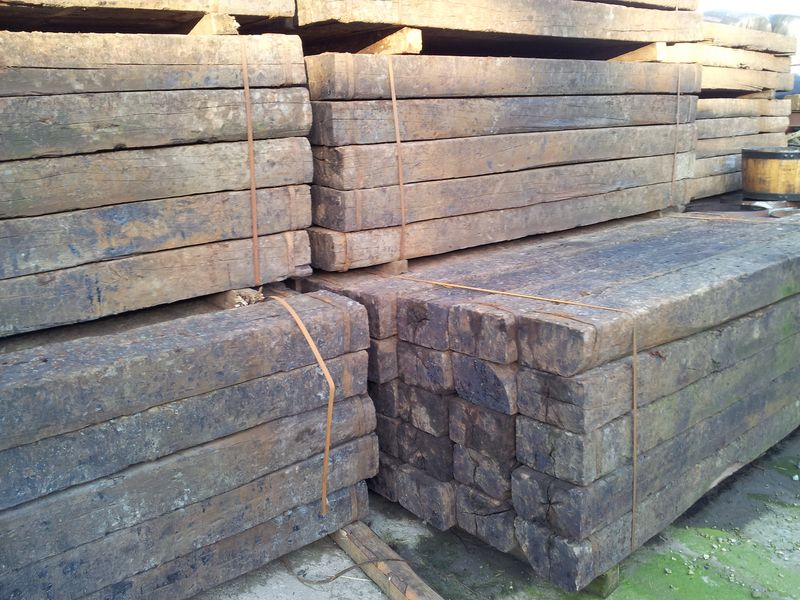 The Best quality reclaimed German Oak Railway Sleepers