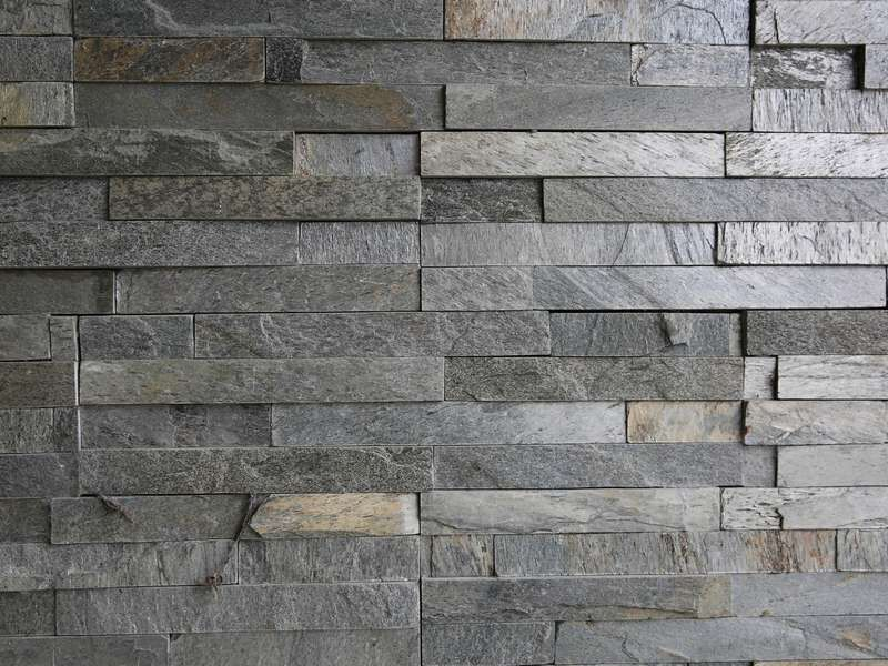 Grey Slate Strip Cladding