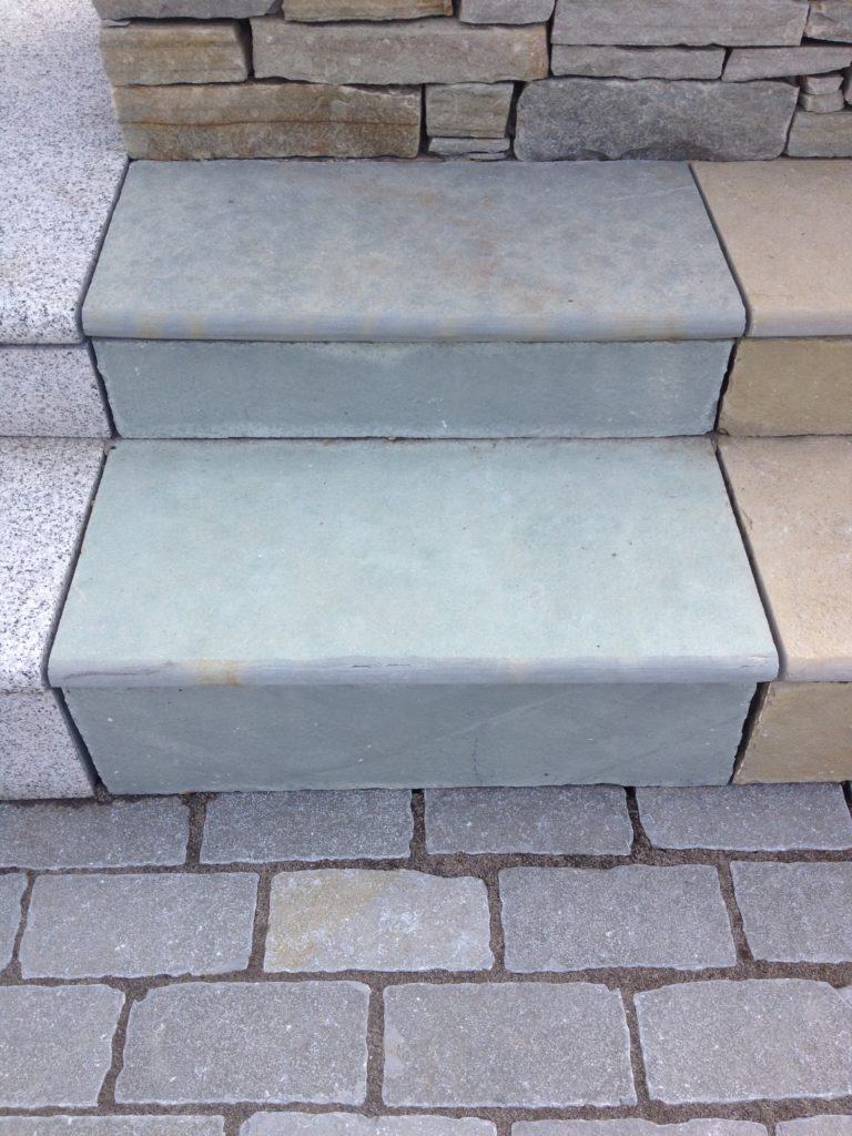 Blue Limestone Bull Nose Steps